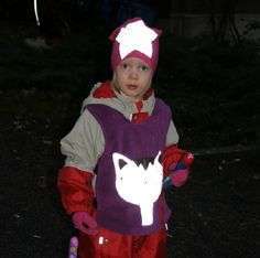 Tähtipipo violetti resoritrikoo | Hauskat heijastinliivit lapsille - Vinkee