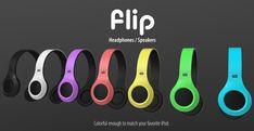 Flip Headphones by Oliver Sha - hybrid speakers and headphones concept