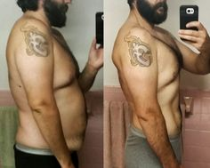 """1 year of Crossfit intermittent fasting and a lot of disc golf. Zero athletic or fitness experience. 6'6"""" #285 to #235. 42 waist to 38. Couldn't even do a sit up starting out. #crossfit #fitness #WOD #workout #fitfam #gym #fit #health #training #CrossFitGames #bodybuilding"""