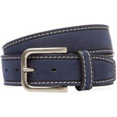 0cdc58af37 Berge Men s Contrast Stitched Leather Belt - Size 38 ( 69) ❤ liked on  Polyvore