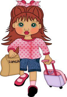 School Back To School Clipart, School Health, Child Doll, Punch Art, Copics, Little Books, Pre School, Art Images, Paper Dolls