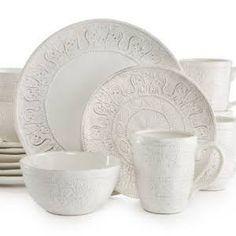 unique white dinnerware - Google Search  sc 1 st  Pinterest & Maison Versailles Blanc Elisabeth Collection | Casual dinnerware ...