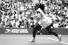 Black & White - Day 6   September 3, 2016 - Serena Williams in action against Johanna Larsson during the 2016 US Open at the USTA Billie Jean King National Tennis Center in Flushing, NY.