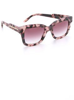 Stella McCartney Square Matte Sunglasses