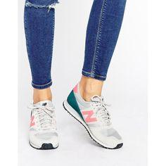Coole Farbkombi mit weiß, pink und petrol. Stylische Sneaker von New Balance, hier zum Nachshoppen!