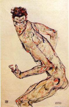 Egon Schiele - Fighter (1913) ART : EGON SCHIELE  (1890 - 1918) AUSTRIAN ARTIST / EXPRESSIONIST /エゴン・シーレ More Pins Like This At FOSTERGINGER @ Pinterest
