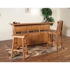 Nebraska Furniture Mart – Sunny Designs Sedona Rustic Oak Bar