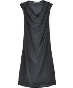 black cowl dress by society for rational dress