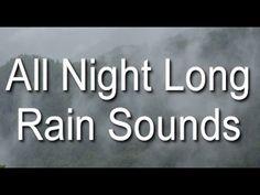 Long Rain Sounds for Sleep: 8 Hours Raining on the Mountain - YouTube
