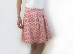 Patron de couture à télécharger - jupe portefeuille plissée pour femme Downloadable pattern - wrap pleated skirt for woman