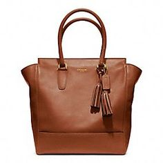 Coach Legacy Leather Tote in Cognac