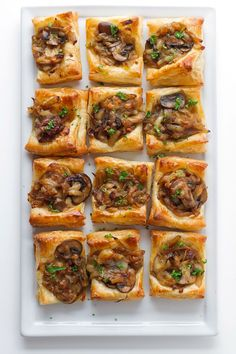 Gruyere, Mushroom, & Caramelized Onion Bites 28 Thanksgiving Appetizers To Eat While Cooking – Decor Dolphin Holiday Appetizers, Appetizer Recipes, Holiday Recipes, Cheese Appetizers, Make Ahead Appetizers, Appetizer Ideas, Christmas Recipes, Appetizer Dishes, Party Appetizers