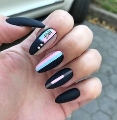 Long Nails Design Ideas You Should Try Today The most memorable and attractive ones will be the stylish long nail design. Drawing and painting on the long nails. And you can turn any design you like into reality. Romantic patterns, beautiful l. Long Nail Designs, Acrylic Nail Designs, Nail Art Designs, Nails Design, Long Nail Art, Long Nails, Classy Nails, Trendy Nails, Hair And Nails