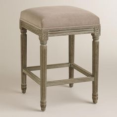 Cocoa Paige Backless Counter Stool at Cost Plus World Market >> #WorldMarket Dining Room, Entertaining, Home Decor, Tips