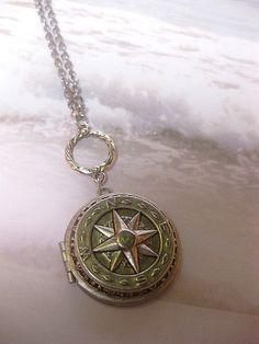 Compass Locket Necklace  True North Locket  Necklace Art