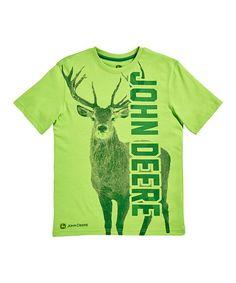 Lime Green John Deere Buck Tee - Tweens | zulily