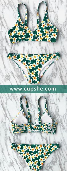 New arrivals Cupshe The Wizard of OZ Print Bikini Set, with better service and free shipping! Adjustable shoulder straps and padding bra will support you best. Besides, floral print looks so cute. Shop now!
