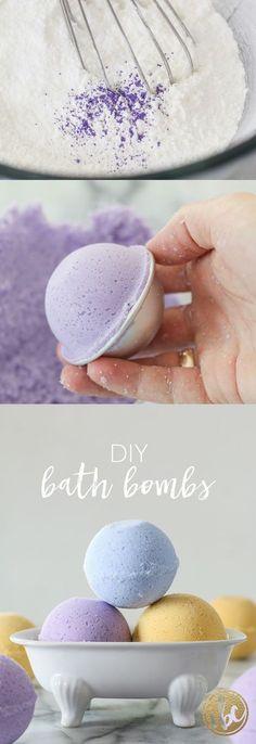 Make your own bath bombs! DIY Lush Bath Bombs via inspiredbycharm.com