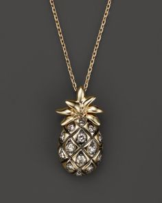 Brown Diamond Pineapple Pendant Necklace in 14K Yellow Gold, .20 ct. t.w. - 100% Exclusive