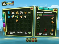 Monkey Quest - User Interface (UX/UI) by Eric Bellefeuille, via Behance