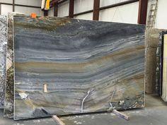 Marine Blue quartzite slab 6299-600