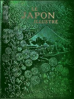 le japon illustre / book cover For full book… Books Decor, Books Art, Old Books, Antique Books, Art Antique, Library Books, Book Cover Art, Book Cover Design, Book Design