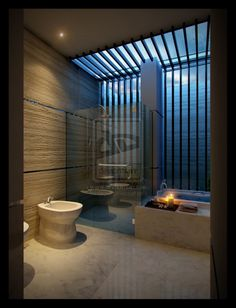 bathroom design  This dim light is an Eastern preference for the bathroom space, whilst North Americans go for bright and clean.