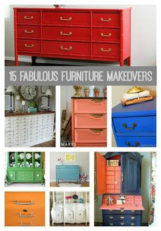 My Top 15 Furniture Makeovers! So much talent out there!! www.bddesignblog.com #paintedfurniture #beforeandafter #makeover
