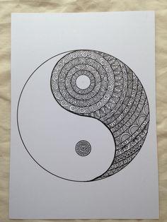 Yin yang by madebymelw in ink