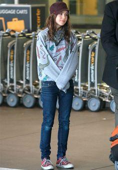 Street style de Ellen Page look estilo tomboy.