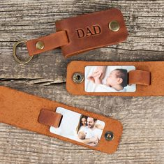 Photo keychain Leather dad key chain photo gift for dad | Etsy First Time Dad Gifts, First Fathers Day Gifts, Great Father's Day Gifts, Unique Gifts For Men, Gifts For New Dads, Leather Key Holder, Leather Keychain, Picture Keychain, 3rd Year Anniversary Gifts