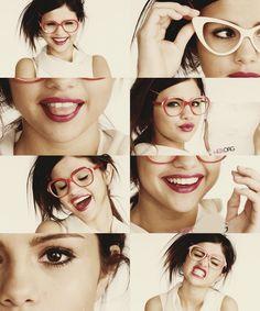 Selena. Fun photoshoot http://www.smartbuyglasses.com/i/celebrity-sunglasses-glasses/selena-gomez-sunglasses/?utm_source=pinterest&utm_medium=social&utm_campaign=PT post