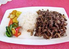 WHITE RICE WITH CHICK PEAS, POTATO SALAD AND SHEEP MEAT?!  THAT IS WHAT I AM GOING TO EAT TONIGHT IN THE DINNER!   BUENISIMO!  DELICIOUS!