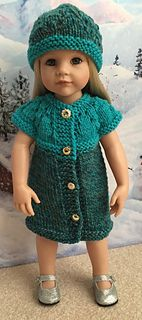 I knit this pattern longer to use as a doll coat but I'm missing the sleeves so may go back and pick the stitches. The fit is good. It could work as a dress also - if the colors were right. I'm n...