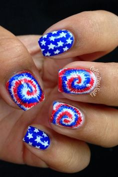 Fourth Of July Nail Art Designs Picture Fourth Of July Nail Art Designs. Here is Fourth Of July Nail Art Designs Picture for you. Fourth Of July Nail Art Designs nagel fourth of july nails Michael Johnson, 4th Of July Makeup, Diy Fourth Of July Nails, Sprinkles, Tie Dye Nails, Patriotic Nails, Blue Nail Designs, July 4th Nails Designs, Cool Nail Designs
