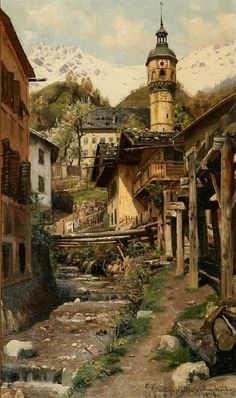 Landscape Painting by Peder Monsted Danish Artist