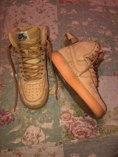 check out 4bc05 966de Nike Air Force 1 High  07 lv8 Flax Wheat size (4 1 2