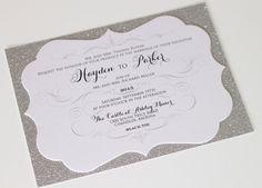 Brillo de invitación de boda invitación por EmbellishedPaperie