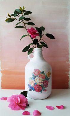 Poppytalk: DIY Mother's Day Decoupage Vases