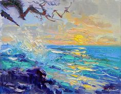 Sunset Makena Park by Don Sahli Oil ~ 20 x 24