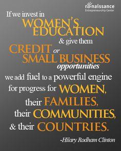 #Entrepreneurship #Women #HilaryClinton