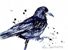 Series Raven 2014 with blue Ink http://aprilturner.jimdo.com/