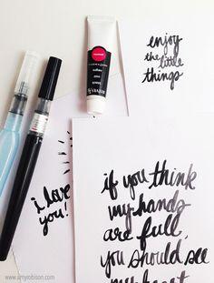 Brush Script Tips | Amy Robison