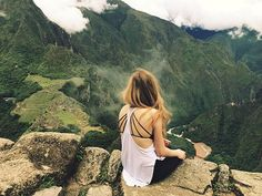 This was taken on top of Wayna Picchu! It's a mountain that looks down over the beautiful Machu Picchu!