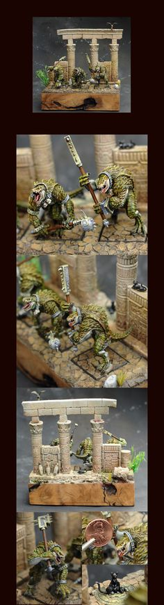 CoolMiniOrNot - Guardians of the River Temple (Woogity's Custom WFB Kroxigor) by Demihuman