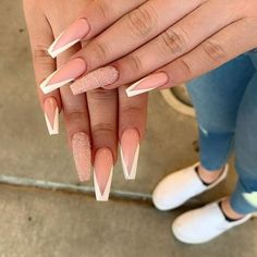 Call ask for Ava,Minh, Amy,helen or dm our IG to make appointment 513 w capitol express way san jose ca 95136 White Tip Acrylic Nails, Cute Acrylic Nail Designs, Summer Acrylic Nails, Nail Art Designs, Nails Design, Summer Nails, Nail Designs Bling, Long Nail Designs, Spring Nails