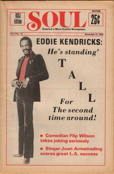 SOUL — America's Most Soulful Newspaper, November 12, 1973 — Eddie Kendricks