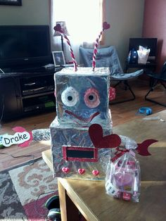 Its a robot Valentine's Day at our house. Best Christmas Presents, Christmas Fun, Turntable, Robot, Valentines Day, House, Best Christmas Gifts, Valentine's Day Diy, Record Player