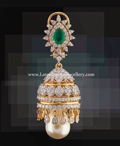 Latest Diamond Jhumka Design