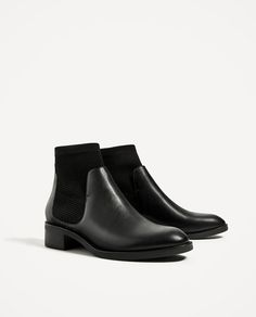 Image 3 of FLAT SOCK ANKLE BOOTS from Zara
